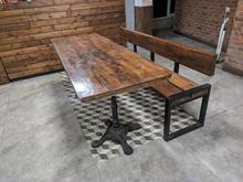 میز نهار خوری و نیمکت و صندلی فلزی تولیکس نطری در شیپور