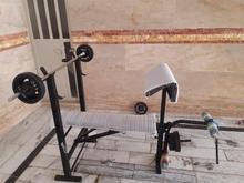 میز12کاره بدنسازی همراه30کیلوگرم وزنه در شیپور