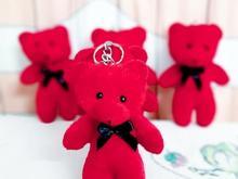 عروسک خرس جاکلیدی آویز کوچک قرمز تک و عمده در شیپور