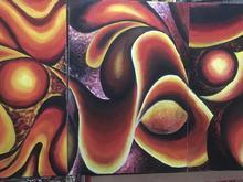 تابلو سه تیکه نقاشی  در شیپور