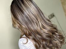رنگ مو هایلایت آرایشگاه بالیاژ کراتینه  در شیپور