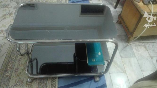 میز تلفن باشیشه برنزی  در گروه خرید و فروش لوازم خانگی در البرز در شیپور-عکس1