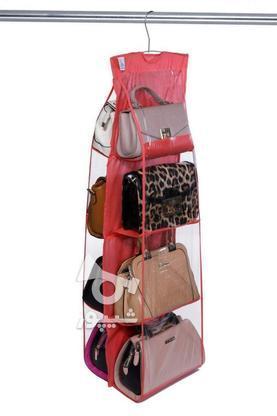 کیف آویز سه طبقه داخل کمد و روی چوب رختی دارای 6 محل کیف در  در گروه خرید و فروش لوازم خانگی در اردبیل در شیپور-عکس7
