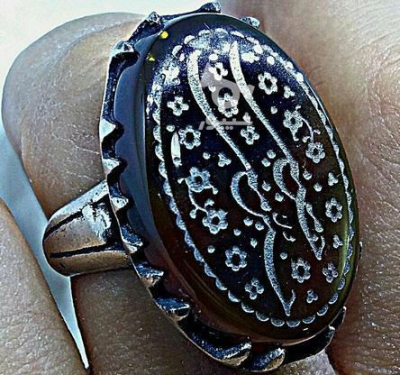 انگشتر جزع خرمایی خط حسین منی در گروه خرید و فروش لوازم شخصی در فارس در شیپور-عکس2