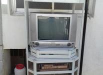 میز تلویزیون ، تلویزیون و دستگاه سی دی کاملا سالم در شیپور-عکس کوچک
