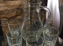 پارچ و 5 عدد لیوان فرانسه قدیمی  در شیپور-عکس کوچک