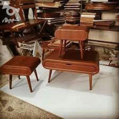 میز جلو مبلی با پایه های مخروطی تمام چوب در گروه خرید و فروش خدمات و کسب و کار در تهران در شیپور-عکس1