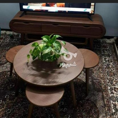میز جلو مبلی با پایه های مخروطی تمام چوب در گروه خرید و فروش خدمات و کسب و کار در تهران در شیپور-عکس7