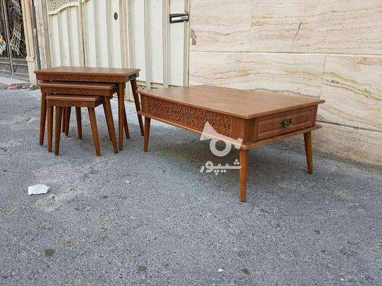 میز جلو مبلی با پایه های مخروطی تمام چوب در گروه خرید و فروش خدمات و کسب و کار در تهران در شیپور-عکس3