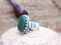 انگشتر نقره با نگین یشم اصیل و طبیعی در شیپور-عکس کوچک