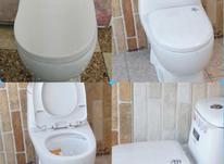 فروش /توالت فرنگی/ با کیفیت عالی و درب دوبل در شیپور-عکس کوچک