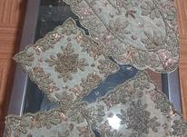 رومیزی 5تکه سنگ دوزی هندی در شیپور-عکس کوچک