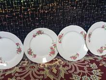 ظرف گلسرخی قدیمی4عددباهم در شیپور