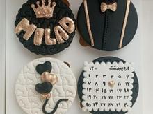 کاپ کیک فوندانتی با مغز شکلات در شیپور