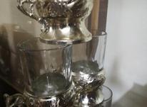 پایه استکان، خوشکل، نقرهای، مناسب در شیپور-عکس کوچک