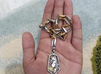 مدال قدیمی با نقش پرنده(نقره نیست) در شیپور-عکس کوچک