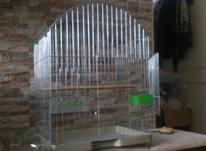 قفس پرنده سقف هلالی مخصوص طوطی عروس هلندی تاشو درب بزرگ در شیپور-عکس کوچک