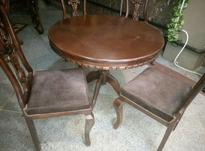 میز و صندلی 4نفره جنس چوب راش در شیپور-عکس کوچک
