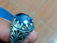 انگشتر دست ساز نقره یاقوت کبود در شیپور