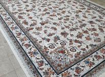 فرش دربار کاشان، ماشینی کرم رنگ /6متری/ طرح 700 شانه در شیپور-عکس کوچک
