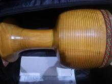 تنبک حلمی مدل ترکه ای قهوه ای با پوست شتر سایز28 در شیپور