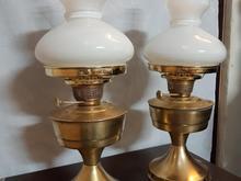 یک جفت چراغ گردسوز نفتی قدیمی مارک روشن 40 ساله در شیپور