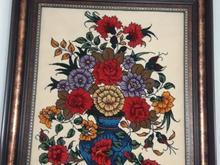 تابلو فرش دستباف طرح گلدان در شیپور