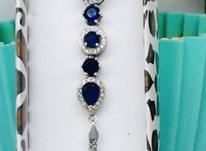 دستبند نقره یاقوت در شیپور-عکس کوچک