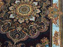 فرش نسترن 700شانه. ریزبافت ابریشم گونه در شیپور