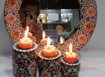 آینه و شمعدون میناکاری شده در شیپور-عکس کوچک