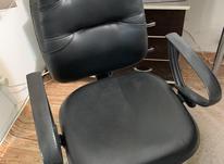 صندلی مدیریت چرم مشکی در شیپور-عکس کوچک