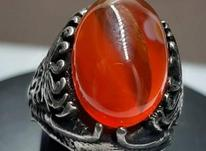 انگشتر نقره 925عقیق سرخ یمنی در شیپور-عکس کوچک