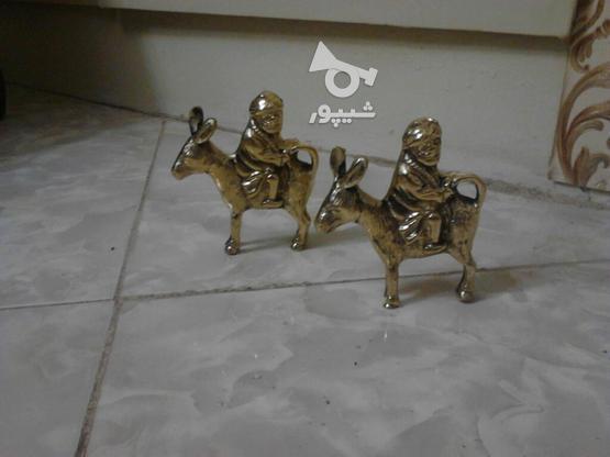 دو عدد مجسمه برنزی در گروه خرید و فروش لوازم خانگی در تهران در شیپور-عکس1
