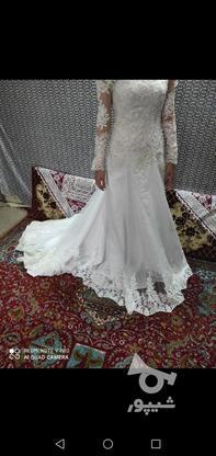 لباس عروس دنباله دار در گروه خرید و فروش لوازم شخصی در مازندران در شیپور-عکس1