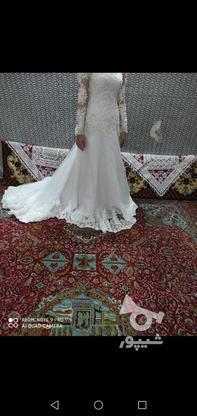 لباس عروس دنباله دار در گروه خرید و فروش لوازم شخصی در مازندران در شیپور-عکس3