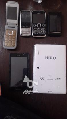 پنج عدد گوشی به همراه یک تبلت در گروه خرید و فروش موبایل، تبلت و لوازم در تهران در شیپور-عکس1