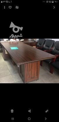 میز کنفرانس با8 صندلی ثابت در گروه خرید و فروش صنعتی، اداری و تجاری در تهران در شیپور-عکس1