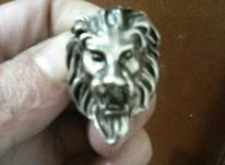 انگشتر نقره ای رنگ در شیپور-عکس کوچک