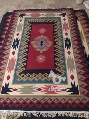 گلیم فرش وقالیچه فانتزی2تخته در گروه خرید و فروش لوازم خانگی در قم در شیپور-عکس1