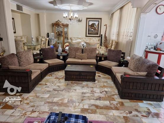 مبلمان استیل با نهار خوری و مبل راحتی در گروه خرید و فروش لوازم خانگی در تهران در شیپور-عکس1
