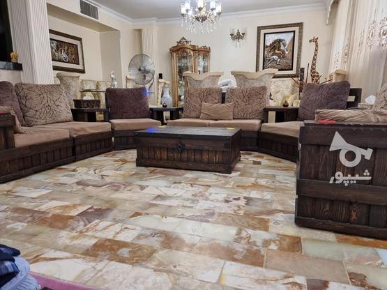 مبلمان استیل با نهار خوری و مبل راحتی در گروه خرید و فروش لوازم خانگی در تهران در شیپور-عکس4