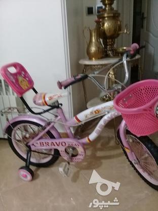 دوچرخه سایز 16 ودخترانه مشابه نو مناسب هدیه در گروه خرید و فروش ورزش فرهنگ فراغت در تهران در شیپور-عکس6