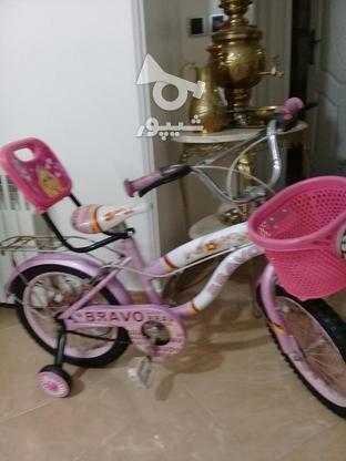 دوچرخه سایز 16 ودخترانه مشابه نو مناسب هدیه در گروه خرید و فروش ورزش فرهنگ فراغت در تهران در شیپور-عکس2