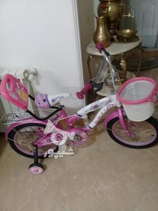 دوچرخه سایز 16 ودخترانه مشابه نو مناسب هدیه در گروه خرید و فروش ورزش فرهنگ فراغت در تهران در شیپور-عکس3