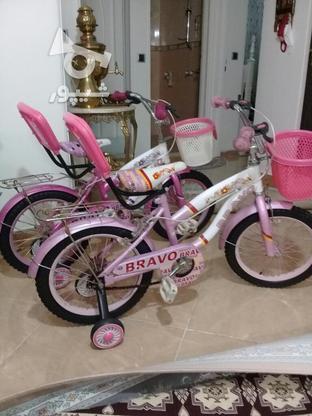 دوچرخه سایز 16 ودخترانه مشابه نو مناسب هدیه در گروه خرید و فروش ورزش فرهنگ فراغت در تهران در شیپور-عکس5