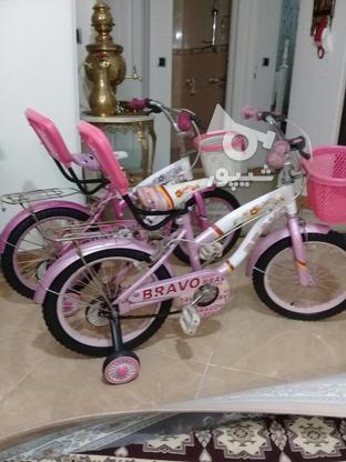 دوچرخه سایز 16 ودخترانه مشابه نو مناسب هدیه در گروه خرید و فروش ورزش فرهنگ فراغت در تهران در شیپور-عکس4
