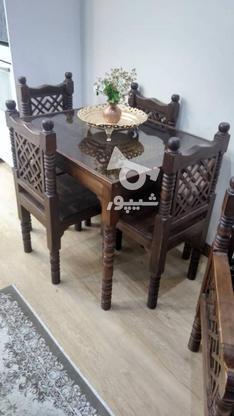 میز نهارخوری سنتی 4 نفره مدل گره چینی در گروه خرید و فروش لوازم خانگی در تهران در شیپور-عکس4
