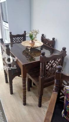 میز نهارخوری سنتی 4 نفره مدل گره چینی در گروه خرید و فروش لوازم خانگی در تهران در شیپور-عکس3