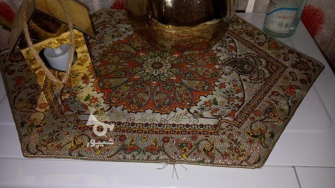 رومیزی سنتی طلایی بهمراه رومیزی ناهار خوری مخمل در گروه خرید و فروش لوازم خانگی در تهران در شیپور-عکس5