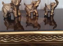 سه عدد فیل طلایی جنس پلی استر در شیپور-عکس کوچک